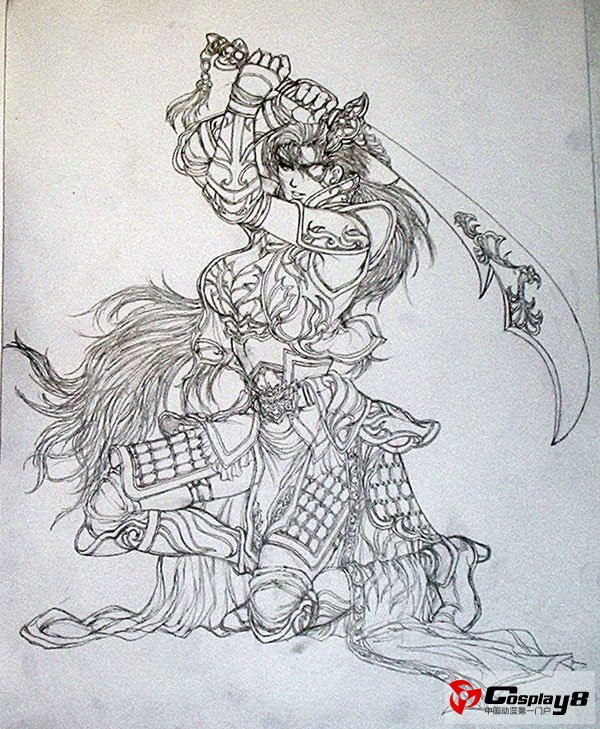 无双系列新作《真三国无双6》人物手稿图欣赏(10)