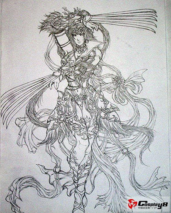 无双系列新作《真三国无双6》人物手稿图欣赏(11)