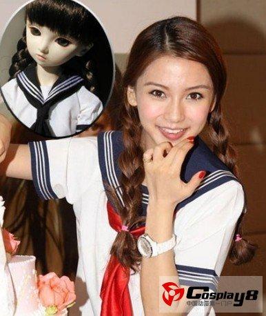 女明星cosplay 洋娃娃造型