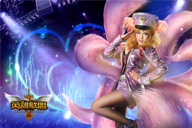 英雄联盟偶像歌手阿狸cosplay