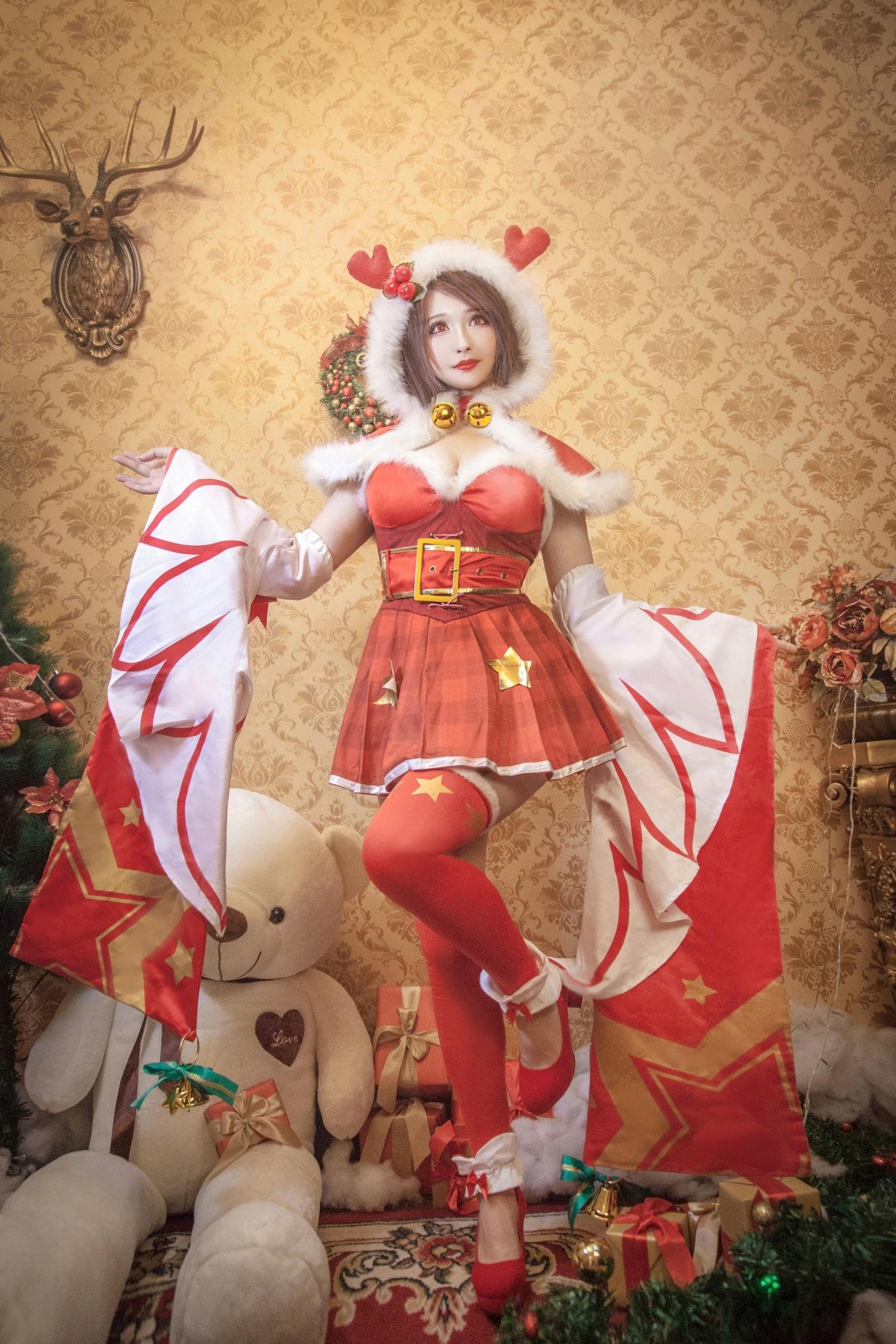 王者荣耀貂蝉圣诞恋歌皮肤cosplay