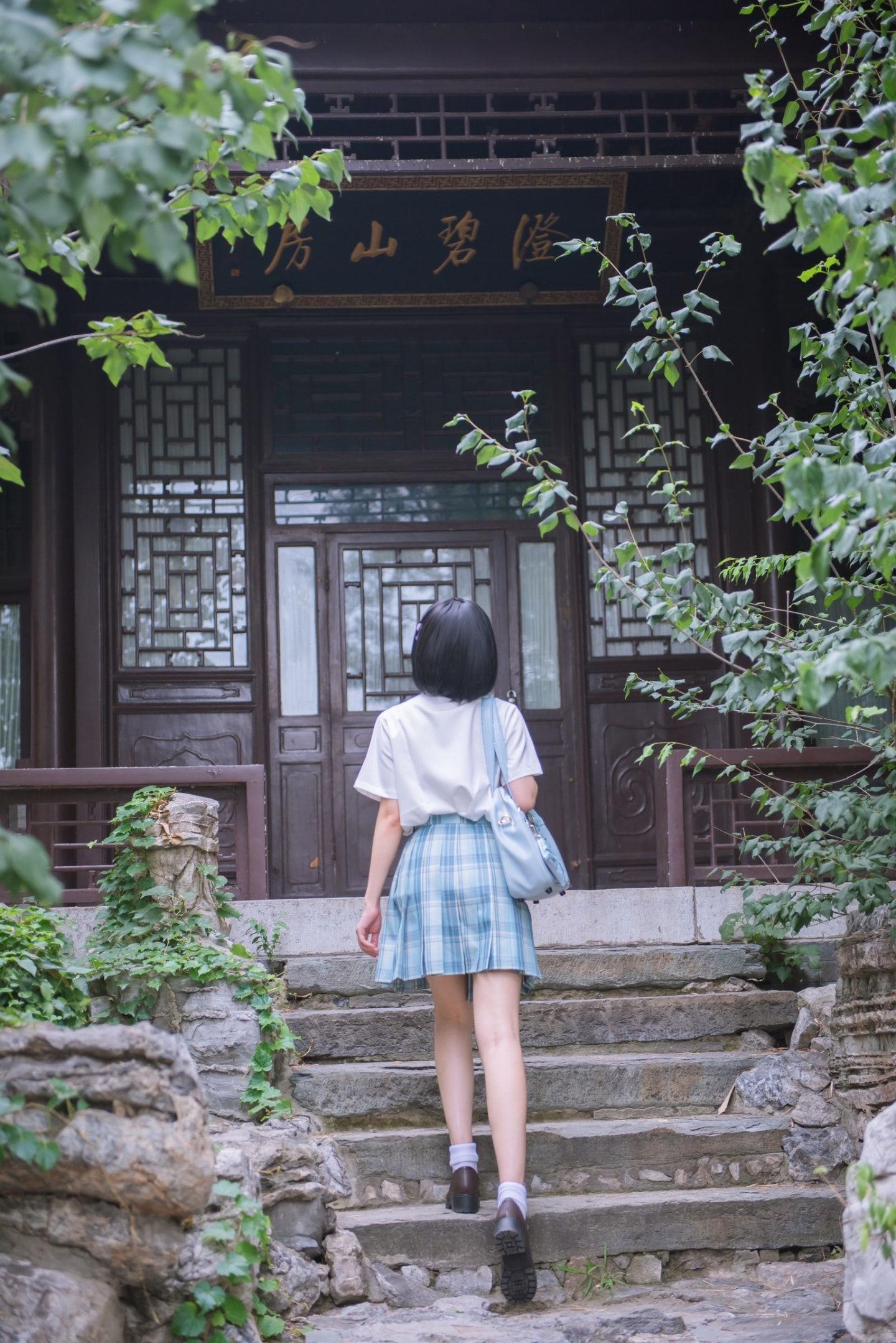 jk日常 穿上格裙,出门看风景啦