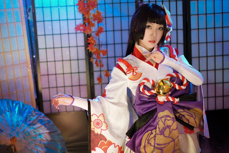 阴阳师雪女月见之樱cosplay