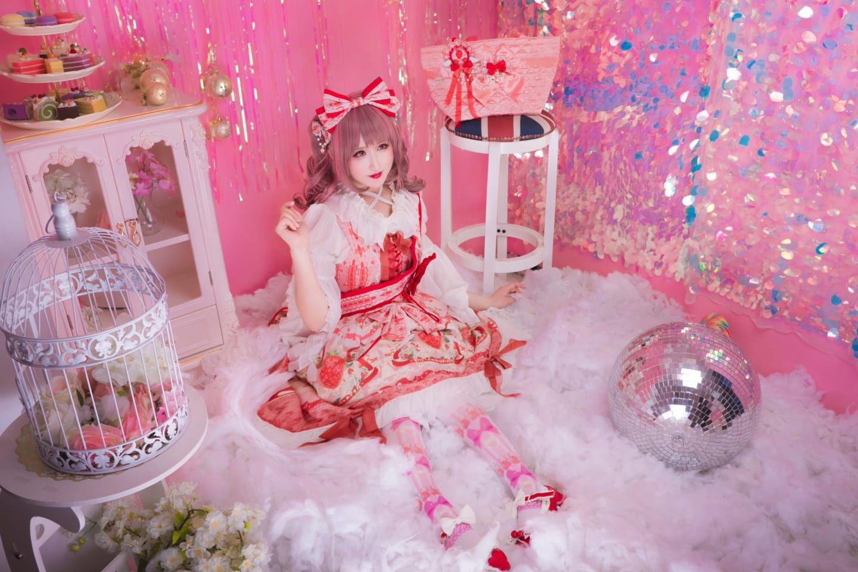 lolita装扮正片 草莓天使jsk