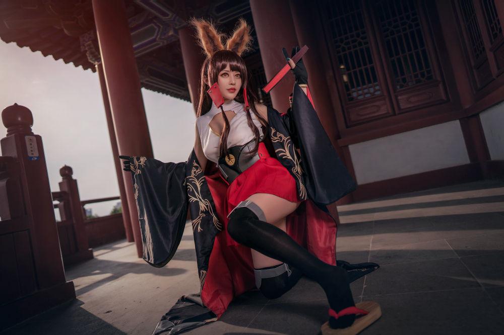 碧蓝航线赤城cosplay