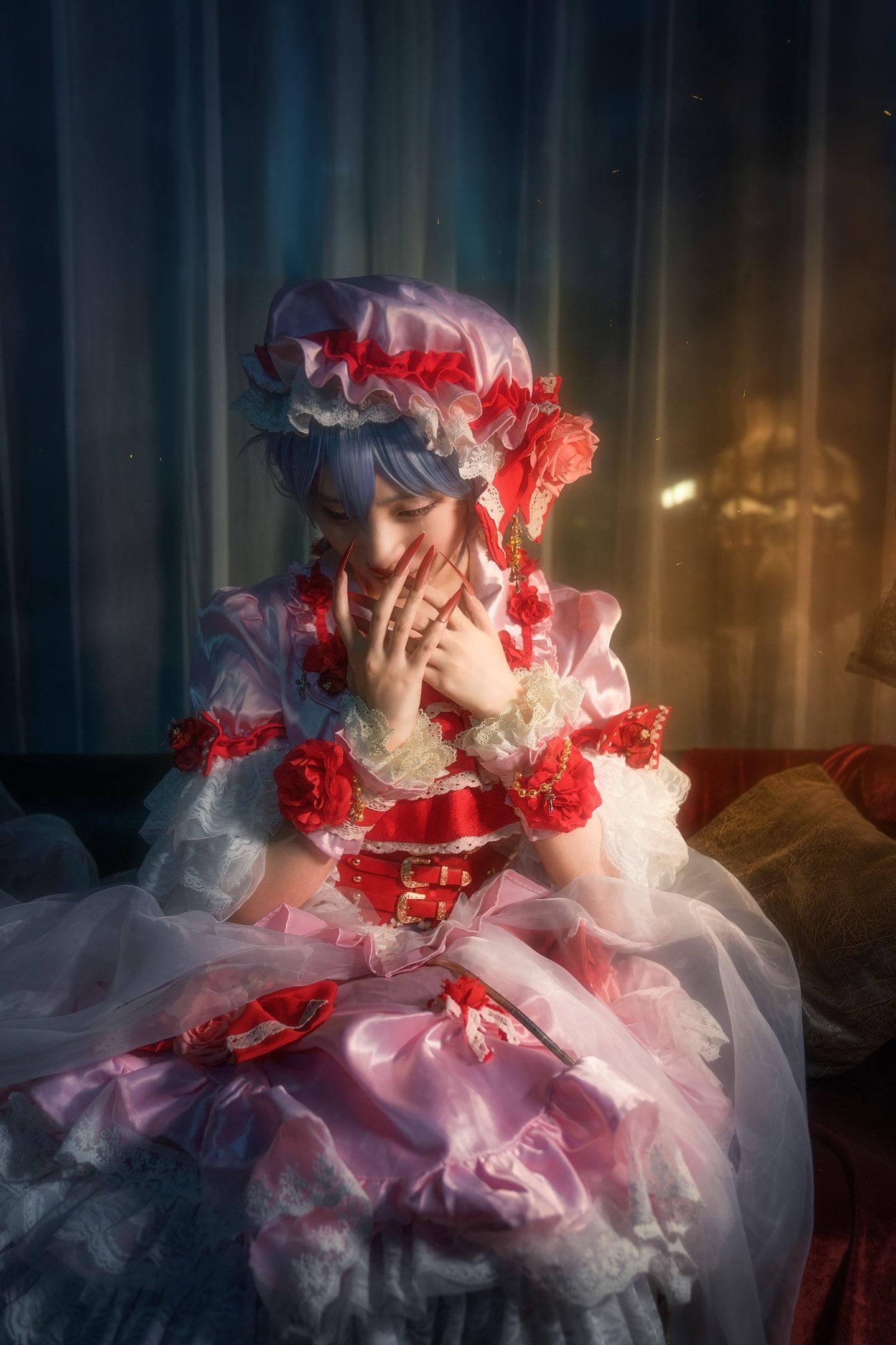东方project红魔组蕾米莉亚 十六夜咲夜 cosplay插图(3)