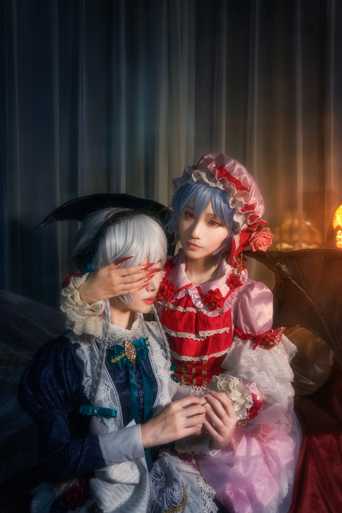 东方project红魔组蕾米莉亚 十六夜咲夜 cosplay插图(4)