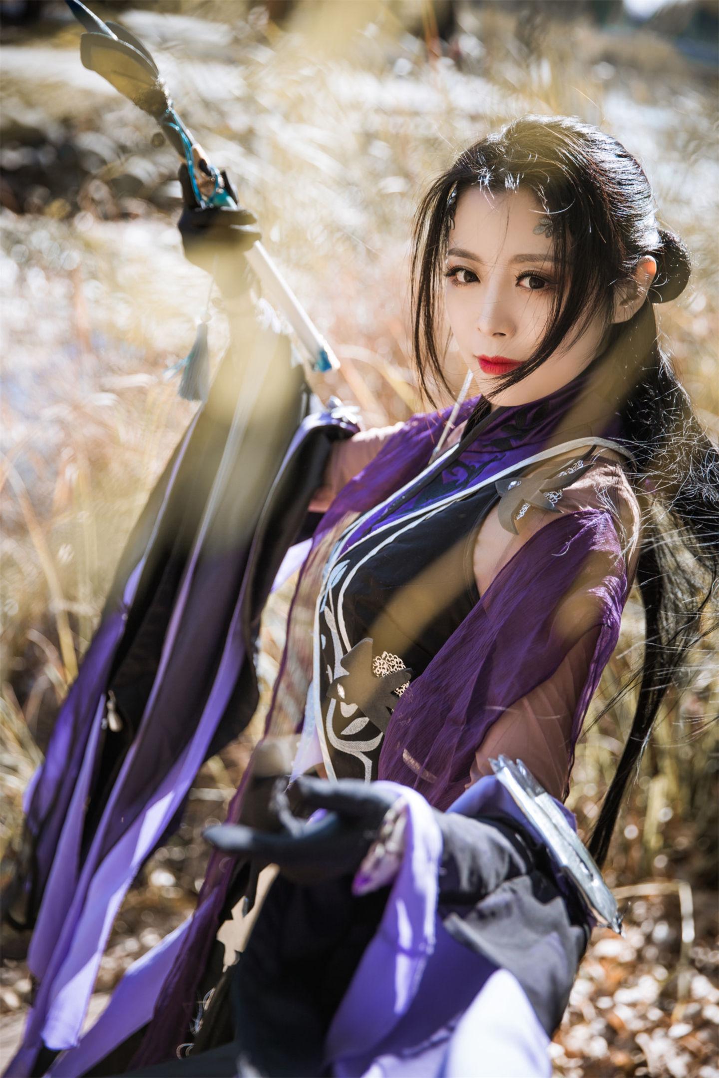 剑网三儒风万花成女cosplay