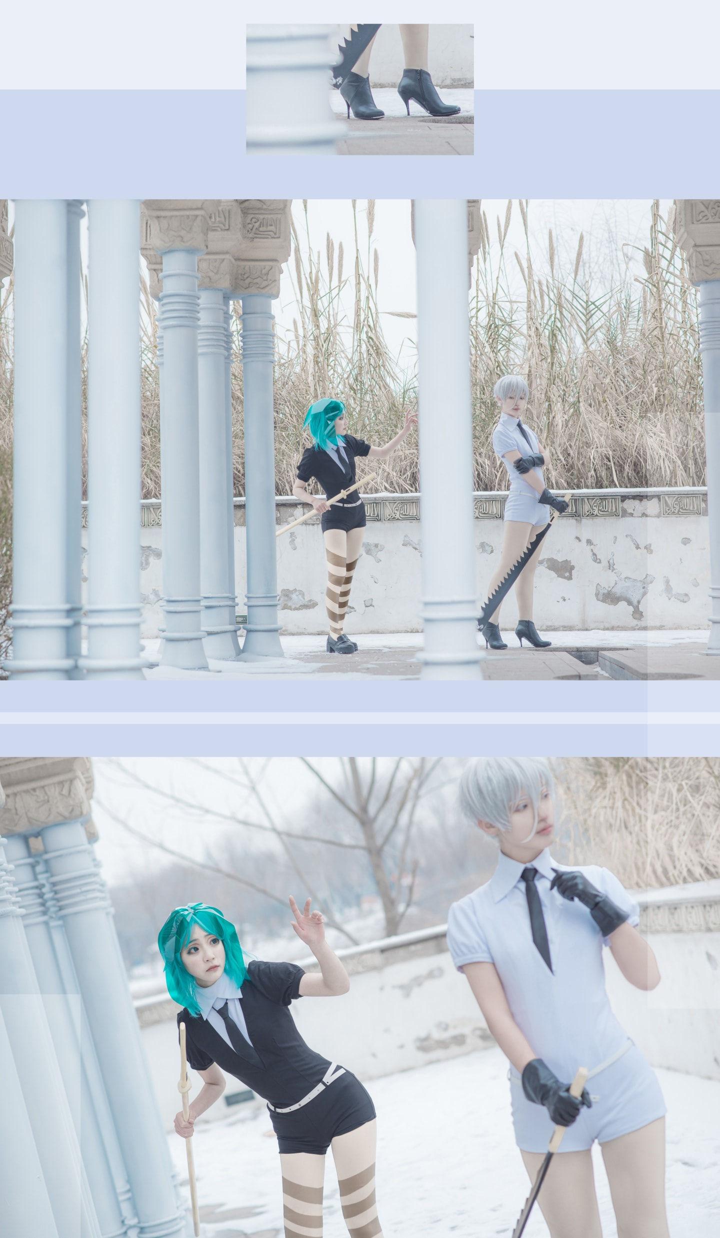 宝石之国冬巡组cosplay插图(2)