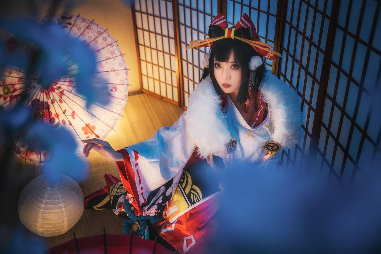 决战平安京·平安庆典·雪女cosplay插图(1)