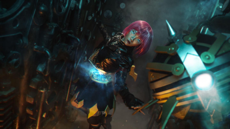 英雄联盟——灵骨工匠·奥莉安娜cosplay插图