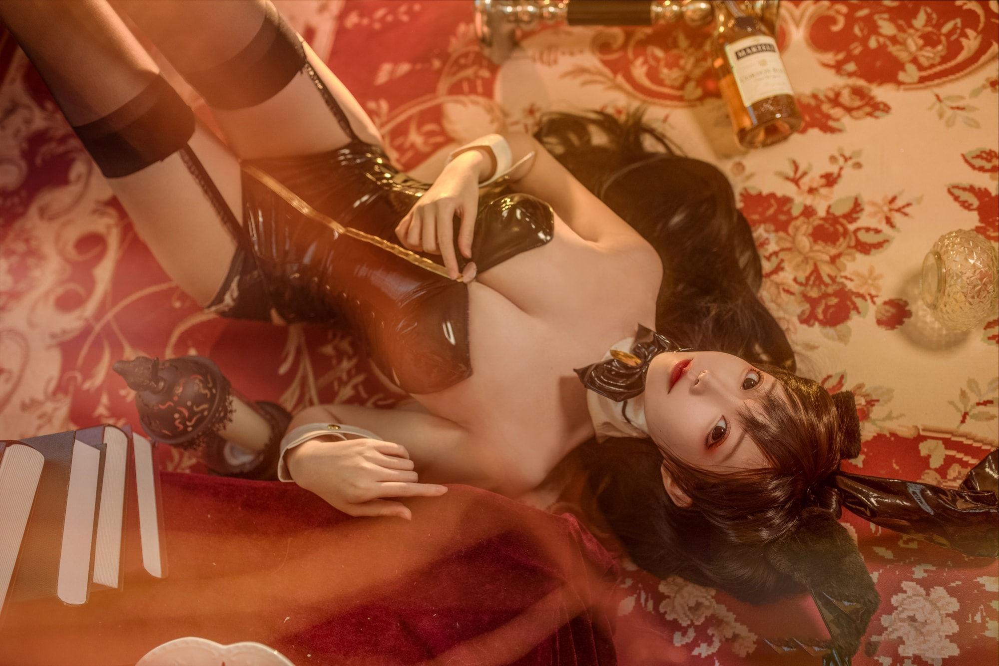 碧蓝航线 爱宕兔女郎cosplay