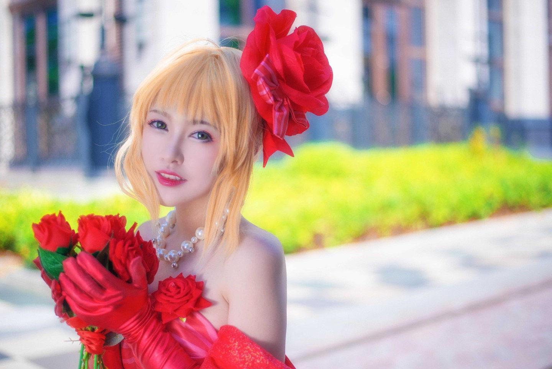 Fate/EXTRA 尼禄偶像皇帝手办ver cosplay