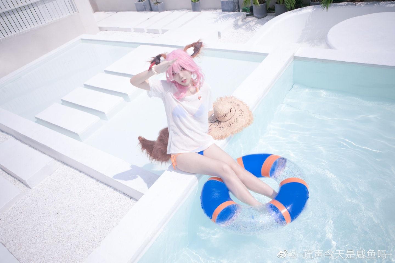 玉藻前cosplay 太阳女神也不能被晒,所以才会带伞哦?插图(1)