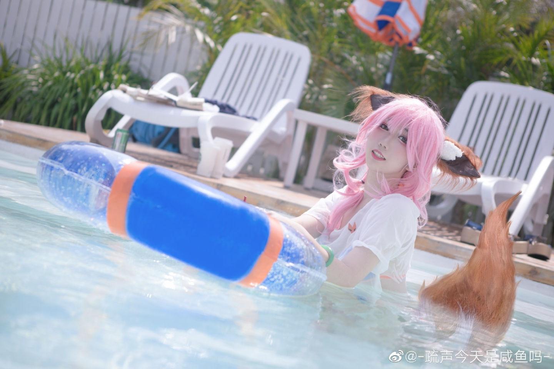 玉藻前cosplay 太阳女神也不能被晒,所以才会带伞哦?插图(3)