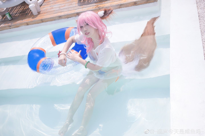 玉藻前cosplay 太阳女神也不能被晒,所以才会带伞哦?插图(4)