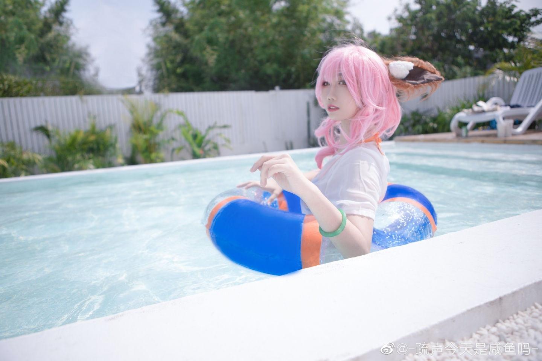 玉藻前cosplay 太阳女神也不能被晒,所以才会带伞哦?插图(7)